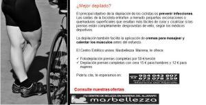 Depilacion especializada ciclistas