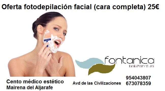 depilación facial femenina completa
