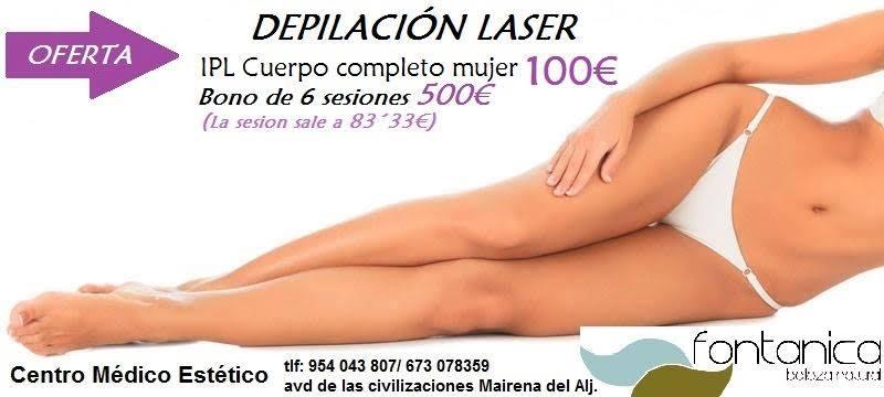 Oferta depilación láser en Sevilla